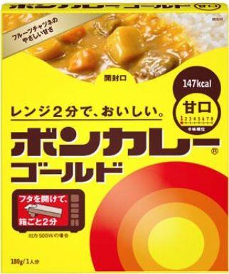 箱ごと電子レンジで調理することができる「ボンカレーゴールド」キタ━━━━(゚∀゚)━━━━ !!!!!