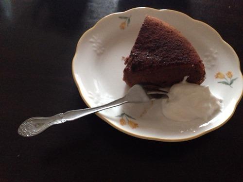 チョコバナナシフォンケーキ作る