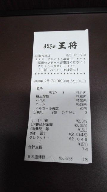 餃子の王将って美味しいけど値段は普通に高すぎじゃね??