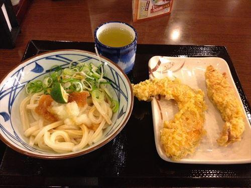 丸亀製麺初心者「野菜かき揚げ最高!」