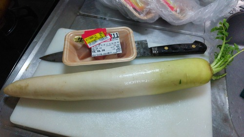 大根安かったから大根料理つくります。