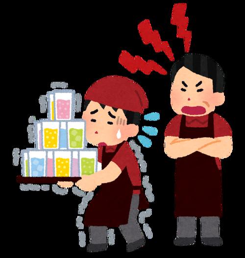 店長が店員を客の目の前で説教すんの飯が不味くなるから止めろよな。外でやれよ。