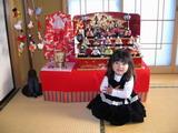雛人形と一緒に(^^♪