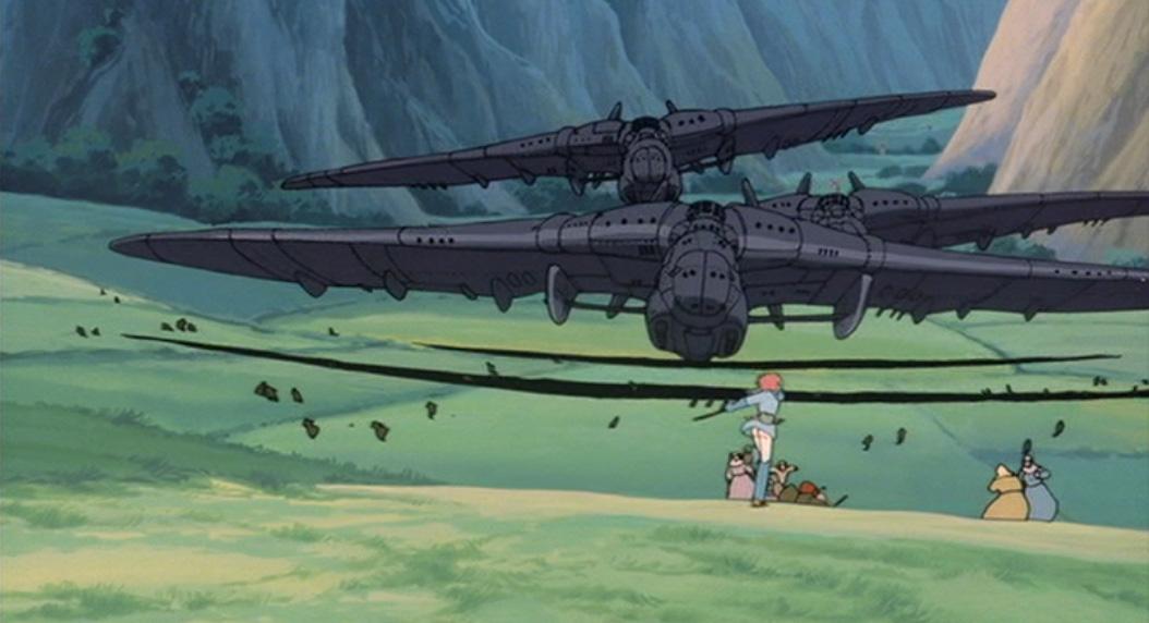 突如飛来するトルメキアの飛空船