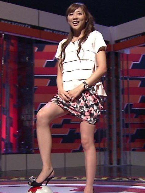 テレビに出ているミニスカお姉さんのエロい脚