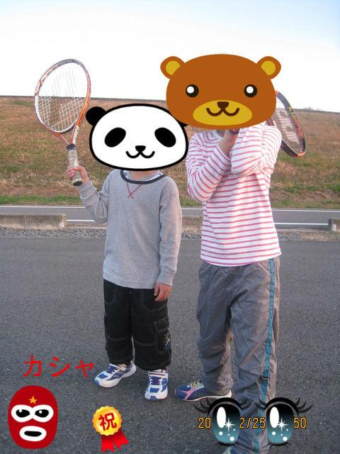 テニス練習後の記念撮影
