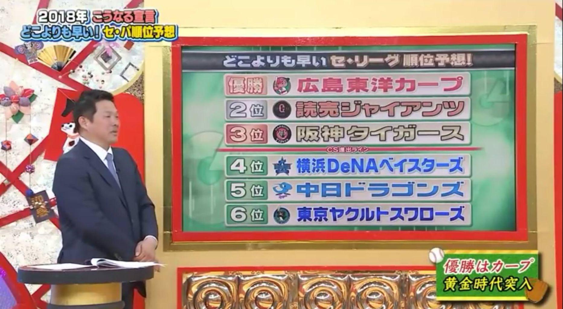 【2018年のペナント予想】山崎武司のプロ野球順位予想となんJ民の順位予想、83%一致する : ニキちゃんねる@おんJなんJ