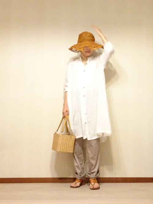 白リネンシャツ (1)