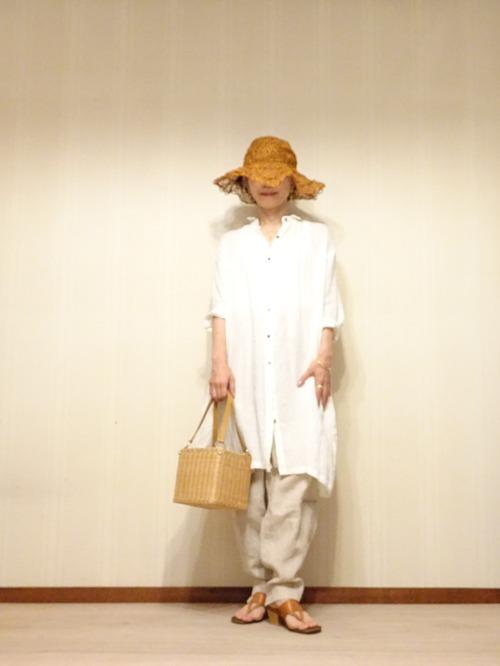 白リネンシャツ (3)