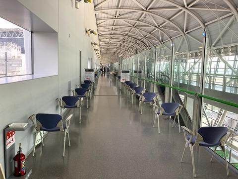 関西空港検疫前の待機場所