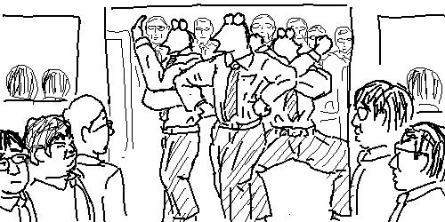 満員電車でみんな降りようとしてるのにドア際で粘る奴wwwwwwwww の画像