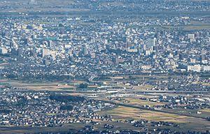Ogaki-Nishi_IC_from_Mount_Ibuki