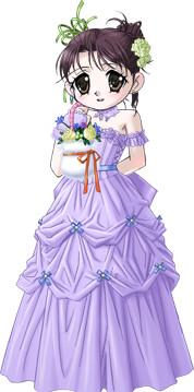 冬音のウェディングドレス2(薄紫)
