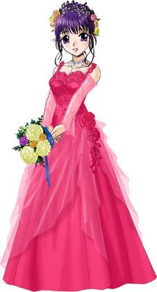 春菜のウェディングドレス2(赤)