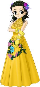 観秋のウェディングドレス2(黄)