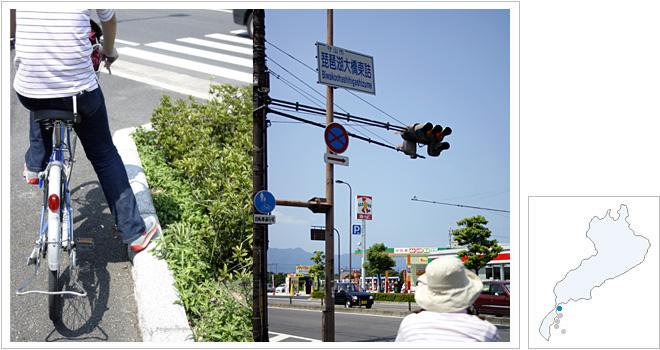 琵琶湖大橋東詰通過