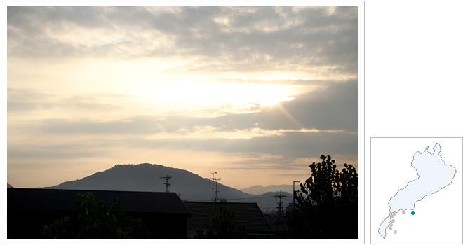 近江八幡の日の出