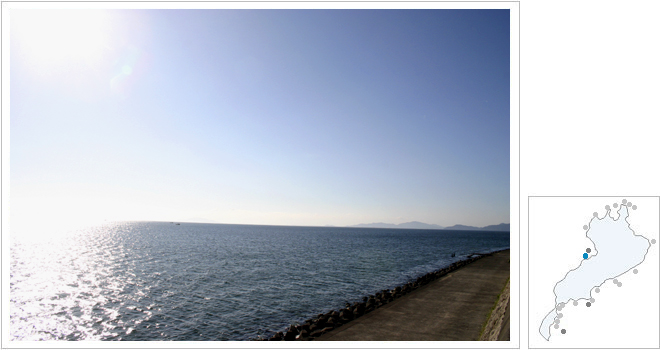 琵琶湖岸に到着