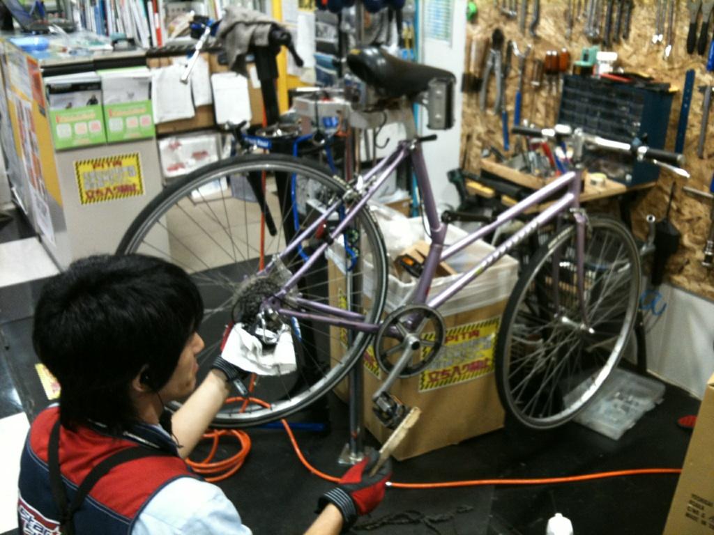 自転車の 自転車 シマノ 変速機 修理 : 修理屋さん!! : こういう自転車 ...