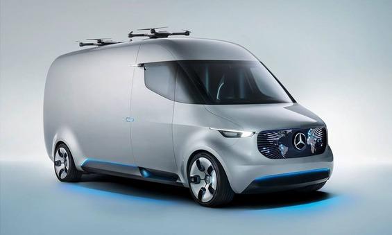 Mercedes-Benz-Vision-Van-drones