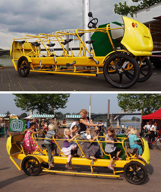 Pedal Powered School Bus