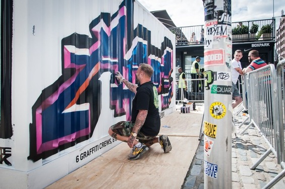 Bomb-The-Box-at-Boxpark-UK-Graffiti-Artist-Aroe-4-August-6