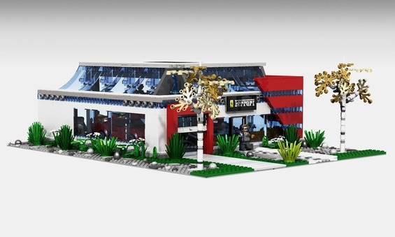 LEGO-Ferrari-Showroom