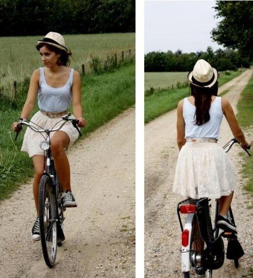 自転車の 自転車 面白い名前 : ... 自転車美女図鑑(夏のお嬢さん