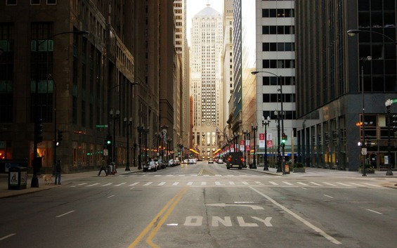 city-street-of-chicago-in-usa-skyscrapers-wallpaper-background