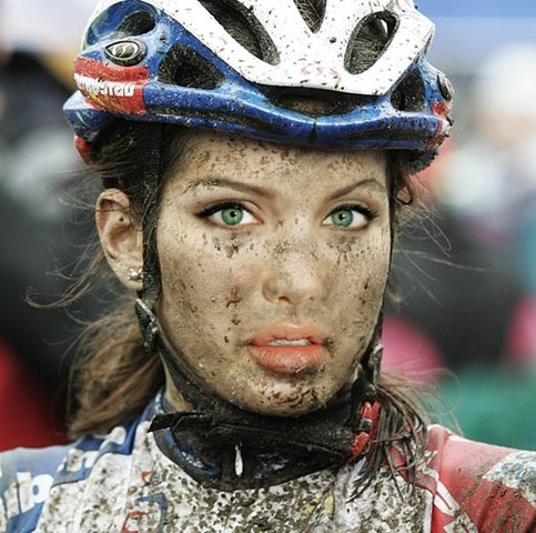 2013-05-22 Bicycle Friends Mud Girl Face Cyclocross
