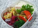 牛肉舞茸チンゲン菜の炒め物弁当