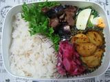 牛肉とナスの甘辛炒め弁当