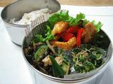 鶏とカラフル野菜のマスタード炒め弁当