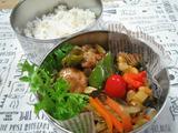 豚肉団子と野菜の黒酢あん弁当