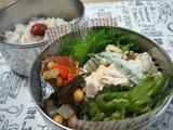 ササミオクラのゴママヨ和え弁当