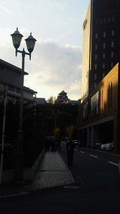 熊本城(上通りより)