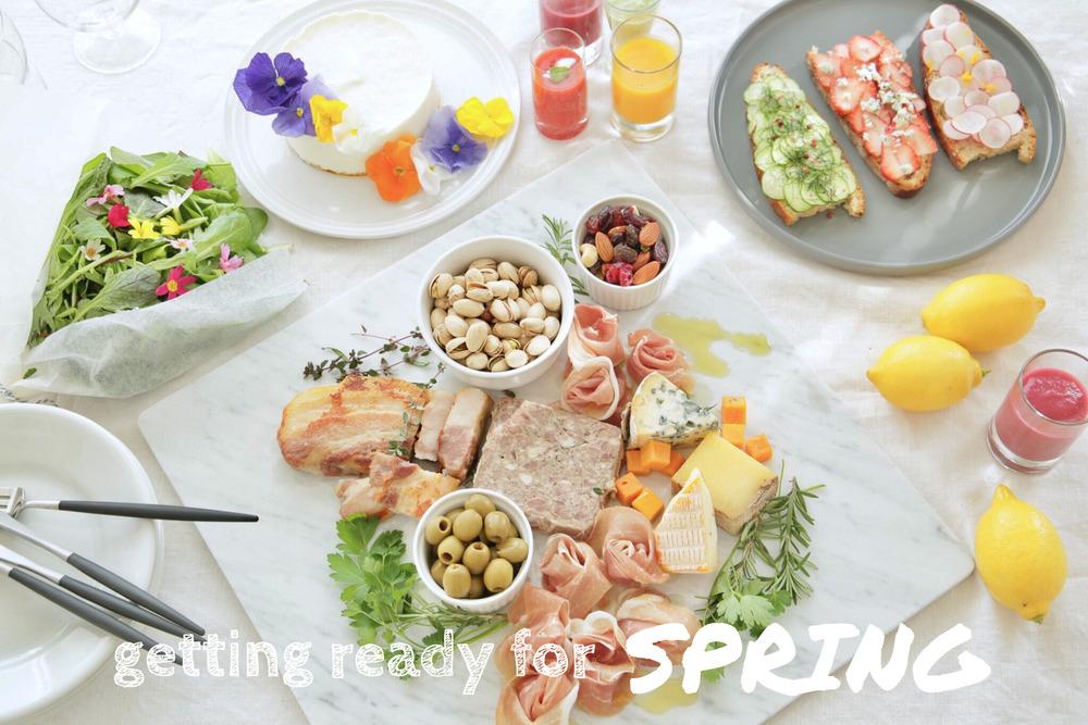 かわいい春のテーブルコーディネート