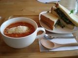 cafe cococara  サンドイッチとスープ