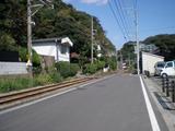つきやま 江ノ電の線路