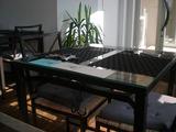 リビングルーム 室内のテーブル席