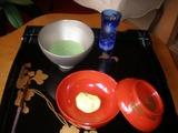 有風亭 抹茶と生菓子(山吹)