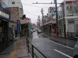 海山 雨の逗子銀座通り