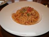 フランチェスカ 地鶏とズッキーニのスパゲティー