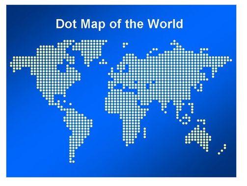 世界地図ドット版  http//www.presentationmagazine.com/dot,map,of,the,world,template,785.htm