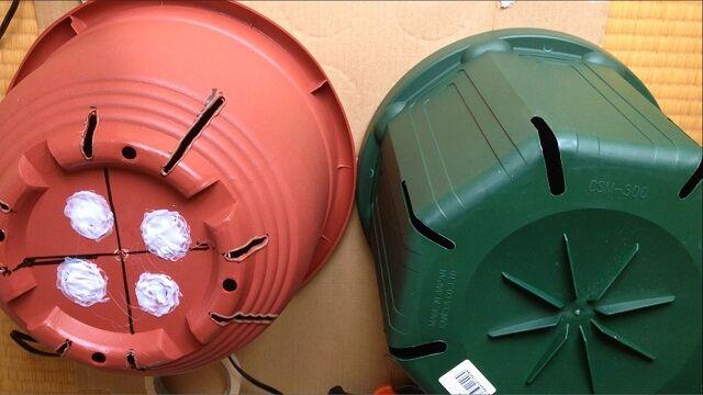 スリット鉢の作り方!100均ダイソーの10号プラ鉢をスリット鉢風にDIY