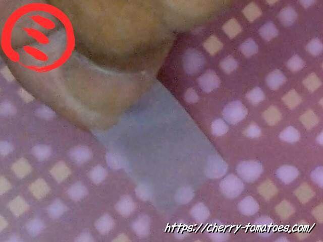 PPシート作成時に開いた穴にセロテープを貼る
