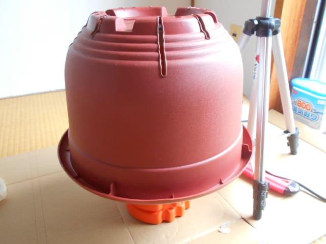 ダイソー10号鉢の鉢底の穴を塞ぐための作業準備