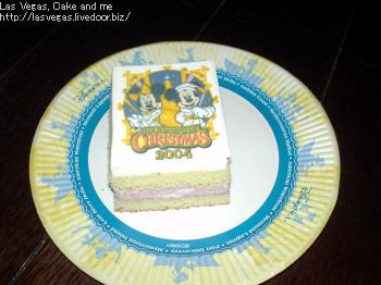 模様のついたケーキ