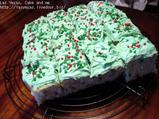 緑色のケーキ