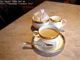 ラウンジにてコーヒー
